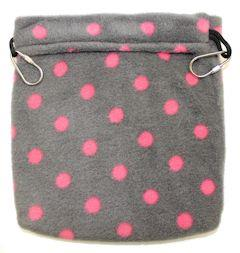 Nest Pouch / GREY WITH PINK DOTS