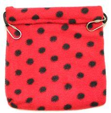 Nest Pouch / RED WITH BLACK DOTS