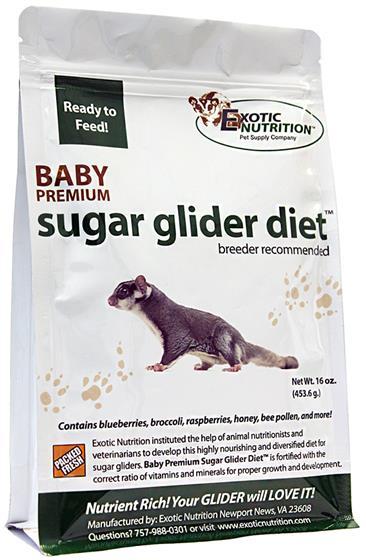 Hedgehog Pet Price >> Baby Premium Sugar Glider Diet 16 oz.- Sugar Glider Food - Exotic Nutrition