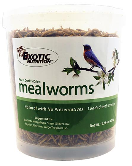 Dried Mealworms 14.28 oz. tub