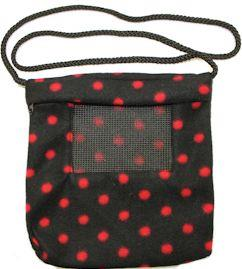 Carry Bonding Pouch with Window / BLACK WITH RED DOTS