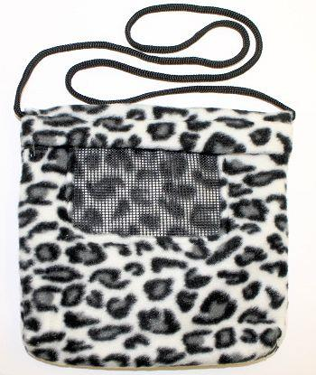 Carry Bonding Pouch with Window / BLACK & WHITE CHEETAH