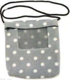 Carry Bonding Pouch with Window / GREY WITH WHITE DOTS