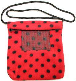 Carry Bonding Pouch with Window / RED WITH BLACK DOTS