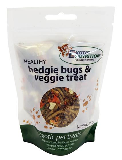 Hedgie Bugs & Veggie Treat 60 g.