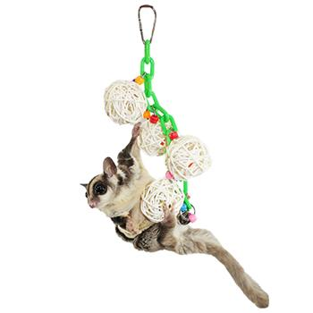 Sugar Glider with Hanging Jingle Balls Toy