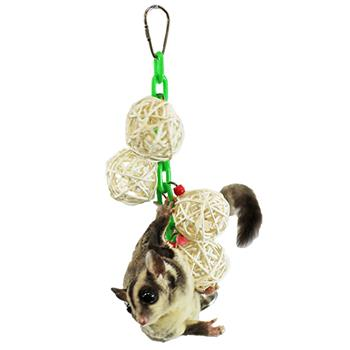Sugar Glider with Hanging Jingle Balls