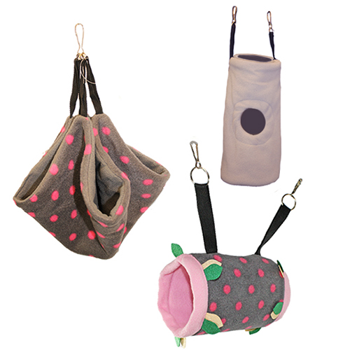 Grey & Pink Pouch Set 982790