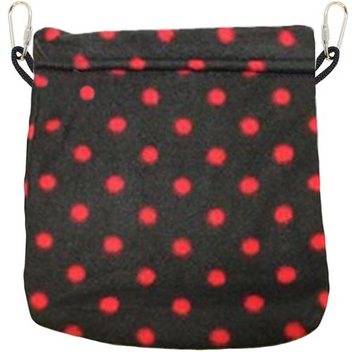 Nest Pouch / BLACK WITH RED DOTS