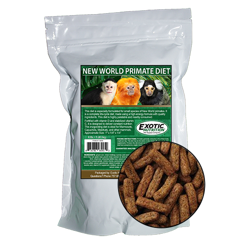 New World Primate Diet 10 Lb Exotic Nutrition