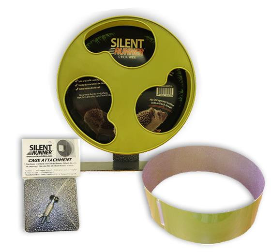 "Silent Runner Wheel 12"" (Wide) with Sandy Trimmer Track and Cage Attachment"