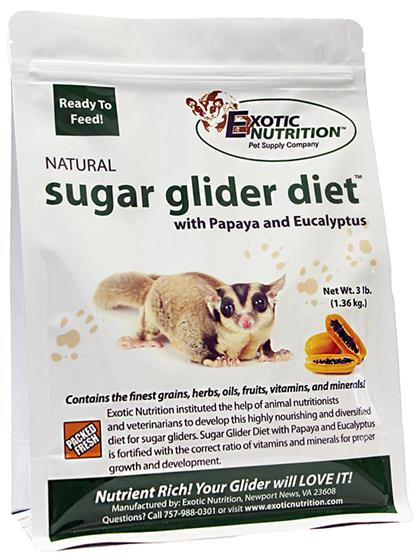 Sugar Glider Diet with Papaya and Eucalyptus