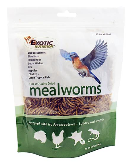 Dried Mealworms 3.57 oz. bag