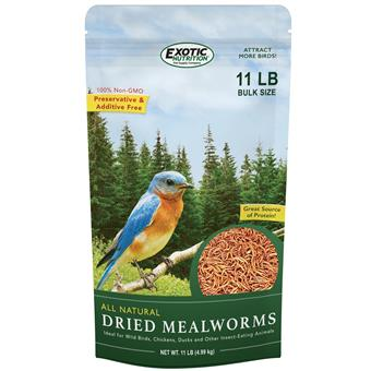 Dried Mealworms 11 lb. bag