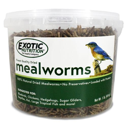 Dried Mealworms 1 lb. Tub