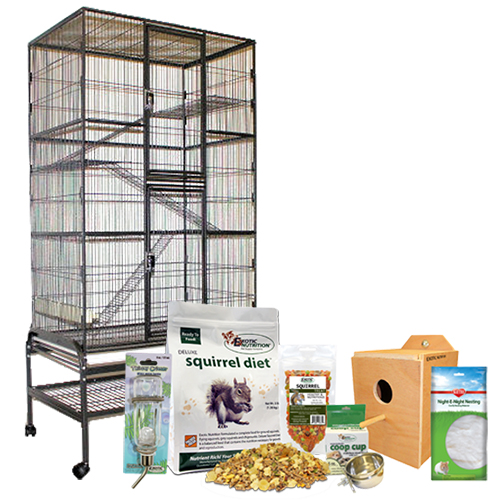 Congo Cage & Starter Package for Squirrels ENC103