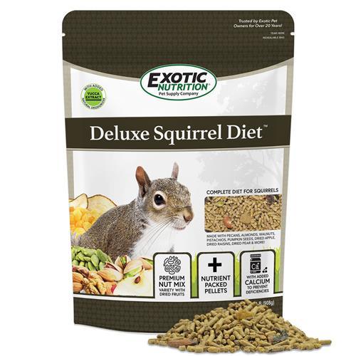 Deluxe Squirrel Food - Exotic Nutrition   Baby Squirrel Diet