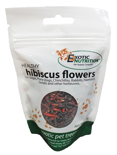 Hibiscus Flowers 092 Oz Treat For Herbivores Exotic Nutrition