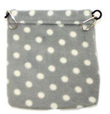 Nest Pouch / GREY WITH WHITE DOTS