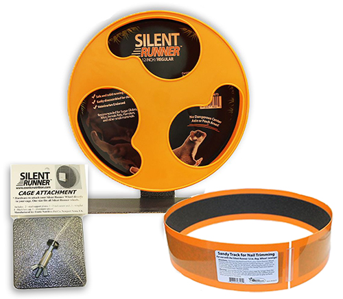 "Silent Runner Wheel 12"" (Regular) with Sandy Trimmer Track and Cage Attachment"