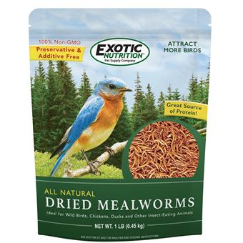 Dried Mealworms 1 lb. Bag EN3664